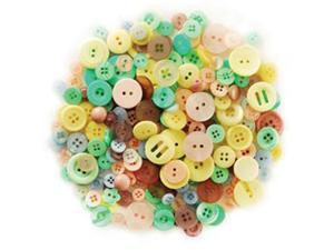 Fashion Buttons In Purse 85 Grams-Pastels