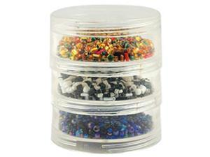 "Bead Storage Screw Stack Cannisters 2.75""X1"" 3/Pkg-"