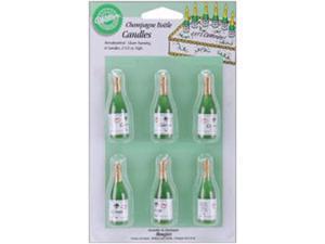"Candles & Cake Decorations 2-1/2"" 6/Pkg-Champagne Bottles"