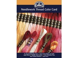 DMC Needlework Threads Printed Color Card-