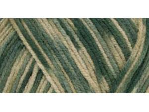 Red Heart Comfort Yarn-Spruce/Sage/Tan Print