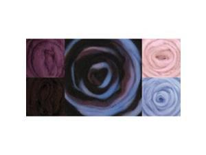 "Wool Roving 12"" .25 Ounce 8/Pkg-Sea Shells"