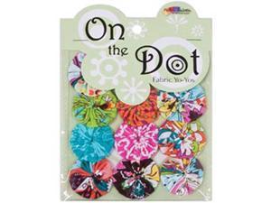 """Fabric Palette On the Dot Yo-Yos 1.5"""" 100% Cotton 10/Pkg-Chill YoYo"""