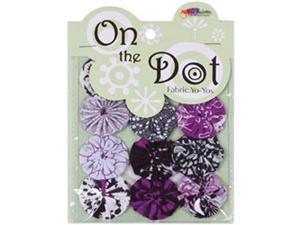 """Fabric Palette On the Dot Yo-Yos 1.5"""" 100% Cotton 10/Pkg-City YoYo"""