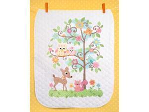 "Baby Hugs Happi Tree Quilt Stamped Cross Stitch Kit-34""x43"""