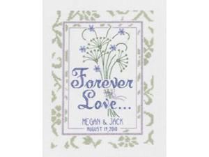 "Forever Love Wedding Sampler Counted Cross Stitch Kit-8""X16"" 14 Count"