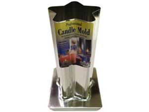 """Metal Candle Mold-5 Point Rounded Star 3""""X6-1/2"""""""