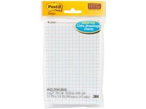 "Post-It Super Sticky Notes On Grid Paper 3.9""X5.8"" 2/Pkg-50 Sheets/Pad"