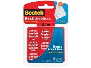 "Scotch Restickable Dots 7/8"" 18/Pkg-Clear"