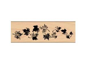 "Penny Black Rubber Stamp 2""X6""-Swriling Leaves"