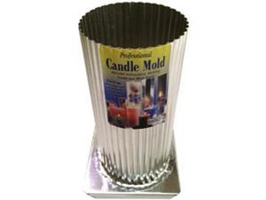 "Metal Candle Mold-Mini Scallop Round 3""X6-1/2"""