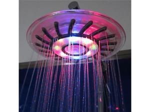 Romantic 4 Mixed-color Changing LED Light Shower Head Illuminated Bathroom Water Sprinkler Showerheads