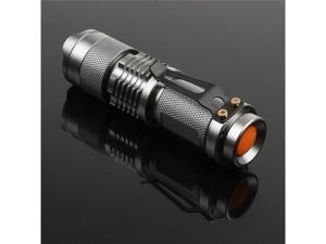 7W 300LM Lumens Mini Brightest CREE LED Flashlight Torch Aluminum Alloy Adjustable Focus Zoom Light Lamp for Hunting Cycling ...
