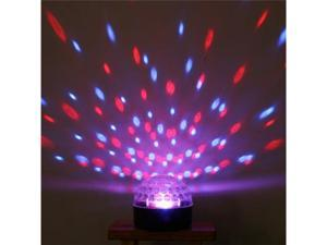 Mini Voice-activated LED RGB Crystal Magic Ball Effect Light Red-Green-Blue Changing Disco DJ Stage Lighting for Ballroom ...