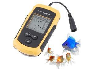 100m Portable Sonar Sensor Fish Finder Fishfinder Alarm Beam Transducer