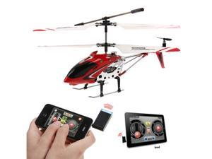 Red 3 Channel RC i-Helicopter i-Heli with Gyro Remote Control by iPhone iPad iPod