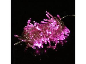 100 LED 10m String Decoration Light for Christmas Party Wedding Pink 110V