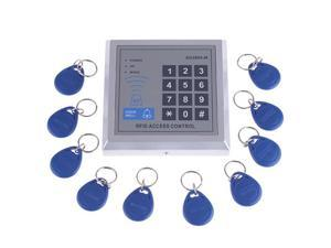 RFID Proximity Door Entry Access Control System + 10 Key Fobs