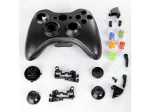 Wireless Controller Full Shell Case for XBOX 360 Black