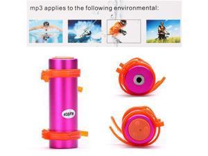 4GB Swimming Diving Water Waterproof MP3 Player FM Radio Earphone Pink