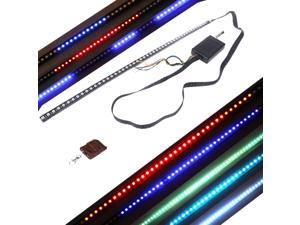 High-brightness Knight Rider Lights Lighting Bar 5050 SMD 48 LED 7 Colors 130 Modes 12V with Remote Control