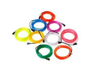 3M Blue Flexible Neon Light EL Wire Rope Tube with Controller