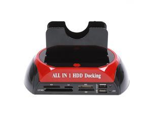 "2.5"" 3.5"" SATA/IDE HDD 2-Dock Docking Station e-SATA USB Hub"