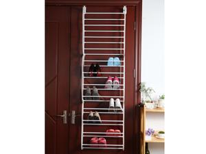 Simple Compositional Over Door 12 Tier 36 Pair Tower Shoe Rack Fashion Shoes Organizer Cabinet Storage
