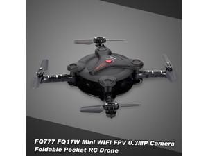 FQ777 FQ17W 6-Axis Gyro Mini Wifi FPV Foldable G-sensor Pocket Drone with 0.3MP Camera Altitude Hold