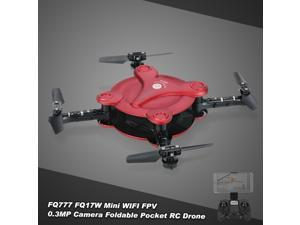 FQ777 FQ17W  6-Axis Gyro Mini Wifi FPV Foldable G-sensor Pocket Drone with 0.3MP Camera Altitude Hol
