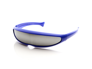 Futuristic Narrow Cyclops Novelty Party Shield Sunglasses