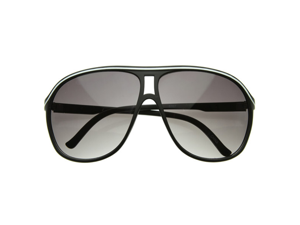 Plastic Retro Large Teardrop Aviator Style Sunglasses