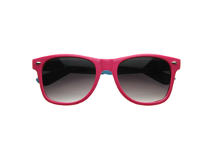Super Two-Tone Hyper Neon Multi Color Party Wayfarers Shades Sunglasses