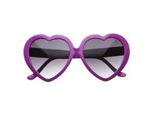 Large Oversized Womens Heart Shaped Sunglasses Cute Love Fashion Eyewear