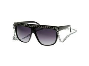 Celebrity Fab Chained Designer Inspired Fashion Glasses 12-Inch Chain Sunglasses