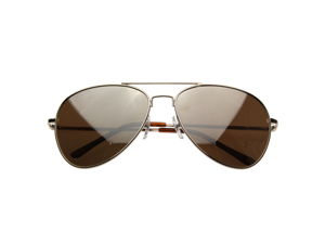 Premium Mirrored Aviator Top Gun Sunglasses w/ Spring Loaded Temples