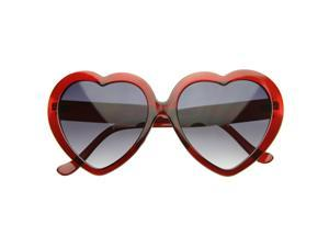 Lovely Oversized Heart Shaped Sunglasses Transparent Clear Frames