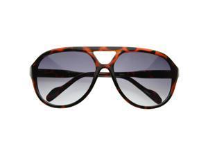 Retro Fashion Thick Bold Tear Drop Aviator Sunglasses
