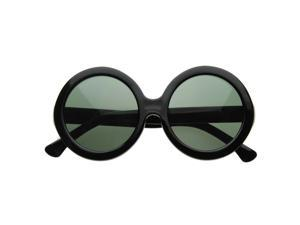 Womens Fashionably Oversized Large Round Bold  Fashion Sunglasses