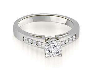 0.65 cttw. Channel Set Round Cut Diamond Engagement Ring in 18K White Gold (SI2, H-I)