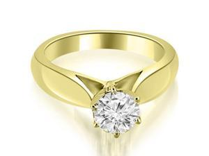 0.45 cttw. Cathedral Solitaire Diamond Engagement Ring in 14K Yellow Gold