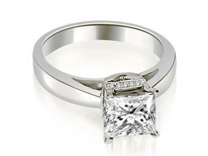 0.55 cttw. Princess Cut Diamond Engagement Ring in Platinum