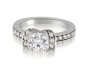 1.00 cttw. Round Cut Diamond Engagement Ring in 18K White Gold (SI2, H-I)