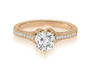 1.50 cttw. Round Cut Diamond Engagement Ring in 14K Rose Gold