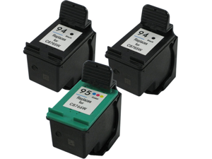 3 Pack HP OfficeJet H470b Compatible Black and Tri-Color Ink Cartridges
