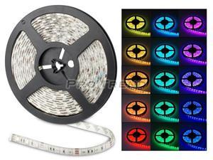 5050 RGB Red Green Blue 5M 300 LED 60 LED/m Waterproof LED Strip Light 50,000+ hours