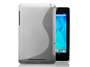 Clear S-Shape Design Protector TPU Case Cover Skin For Google Nexus 7 Android Tablet