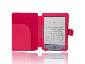 Red Leather Folio Case Cover For Amazon Kindle 4