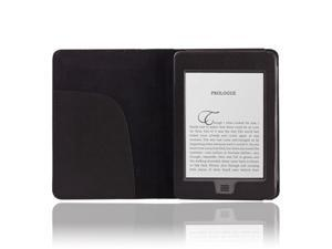 Black PU Leather Folio Cover Case Pouch For Amazon Kindle Touch 4 4th 3G