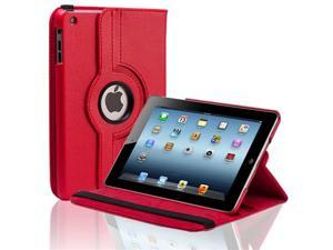 Red 360 Rotating PU Leather Case Cover W/ Stand For Apple iPad Mini 7.9'' Tablet